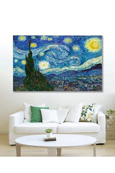 Hediyeler Kapında 70x100 Van Gogh Yıldızlı Gece Duvar Kanvas Tablo
