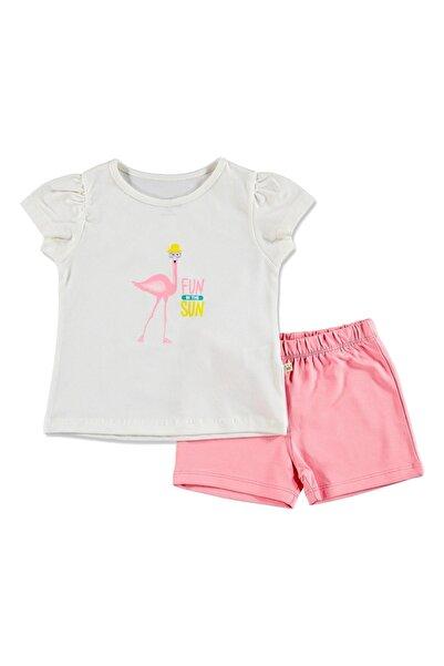 For My Baby Flamingo Baskılı T-shirt 2'li Takım