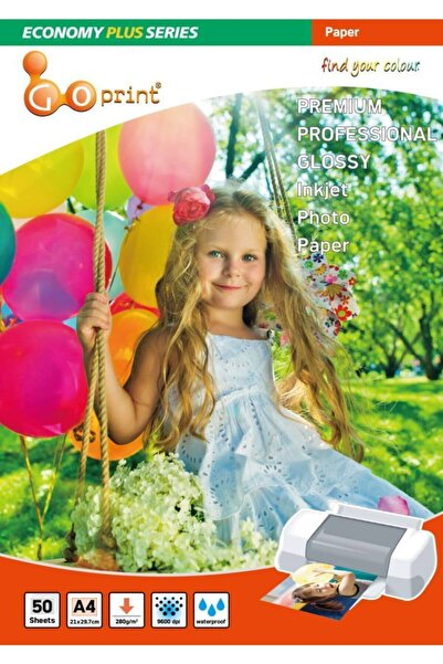 Goprint Economy Plus Serisi Ultra Parlak A4 21x29,7 cm Fotoğraf Kağıdı 280 g 50 Yaprak
