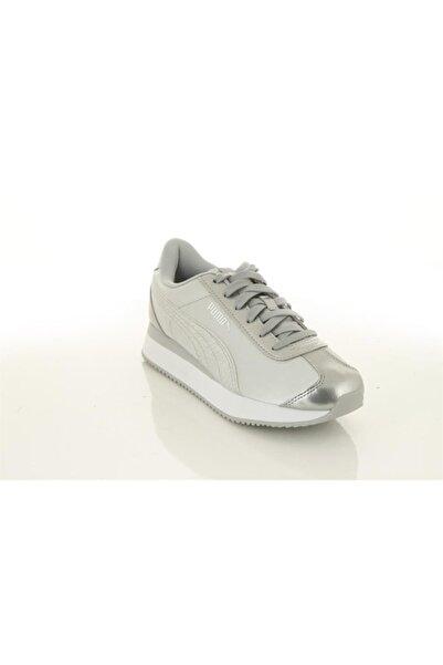 Puma 371944 Turino Stacked Glitter Gümüş - Kadın - Spor Ayakkabı