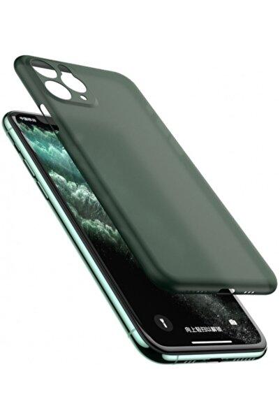 Apple Iphone 11 Kılıf Mat Şeffaf Esnek Kaliteli Ultra Ince Pp Silikon - Koyu Yeşil