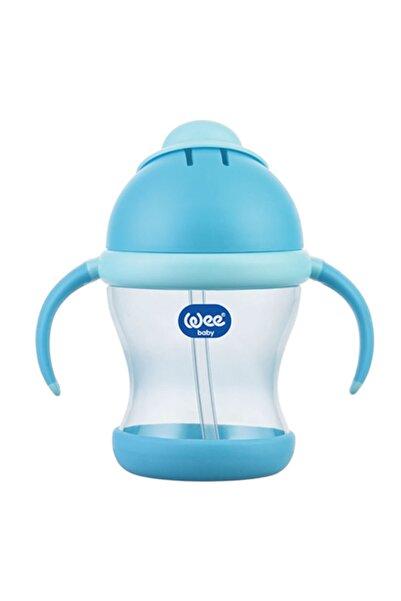 Wee Baby Kulplu Pipetli Bardak 200 ml  - Mavi