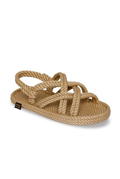 Bodrum Kauçuk Tabanlı Çocuk Halat & Ip Sandalet - Bej