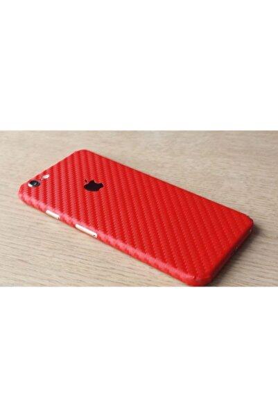 Keep Armor Iphone 6 6s Kılıf Karbon Fiber Sticker Kaplama Arka Full Body Kırmızı