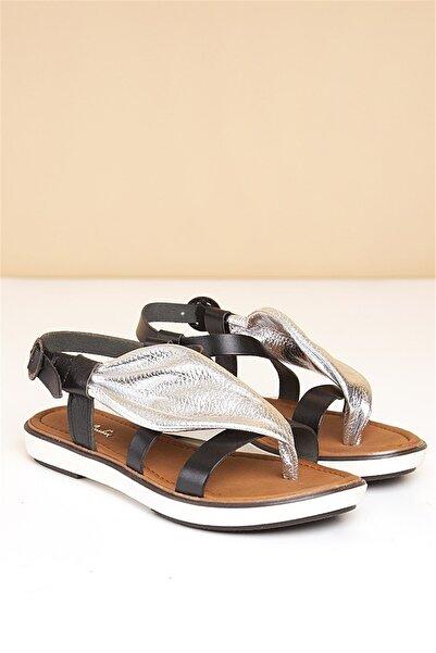 Pierre Cardin 195-Gumus Kadın  Sandalet Pc-2423-12175546