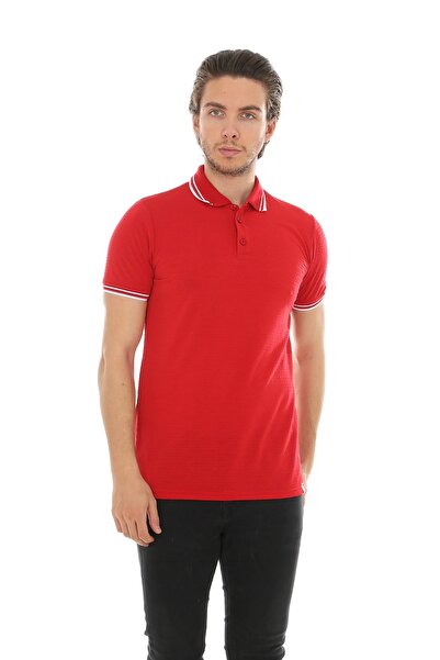 Lenasso Jakarlı Polo Yaka T-shirt Ab-y35066lns