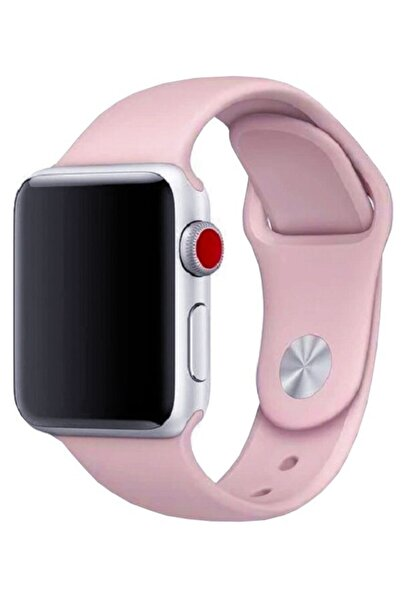 Mopal Apple Watch Seri 1, 2, 3 Akıllı Saat Kordonu Açık Pembe 42-44 Mm