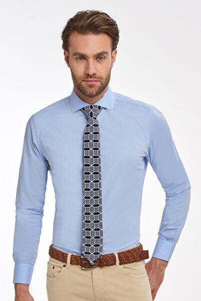 Hemington Erkek Gömlek Açık Mavi İtalyan Yaka