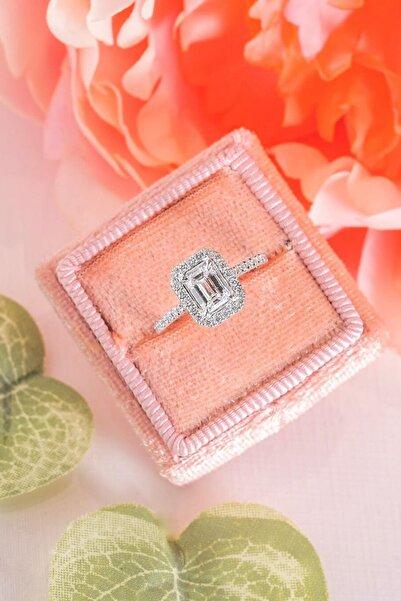 Crystal Diamond Zirconia Labaratuvar Pırlantası 1.25 Carat Tektaş Yüzük  826s6fe5615