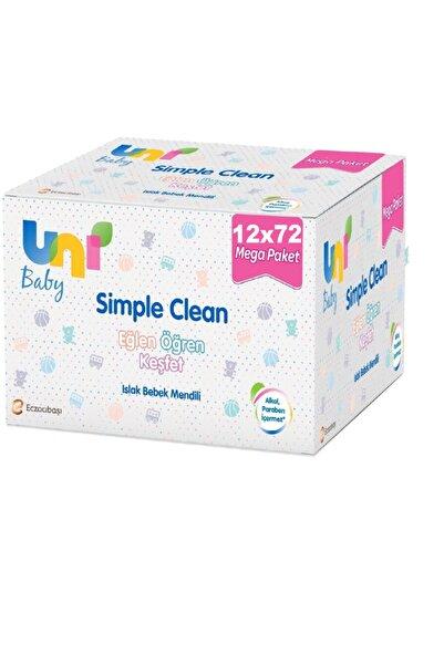 Uni Baby Simple Clean Islak Havlu Mendil 12 X 72 Kapaklı