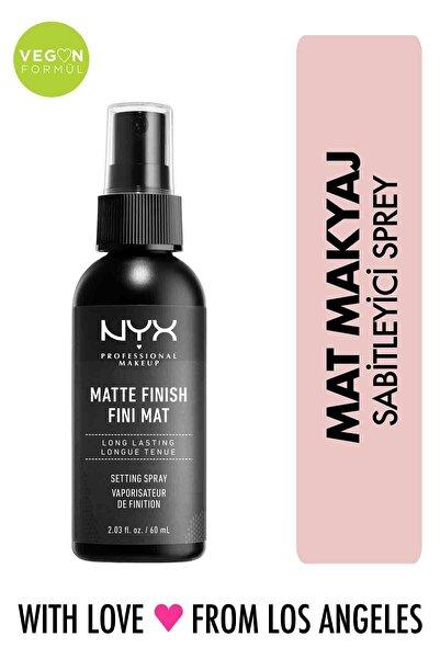 NYX Professional Makeup Mat Görünüm Veren Makyaj Sabitleyici Sprey - Makeup Setting Spray Matte 79 g 800897813710