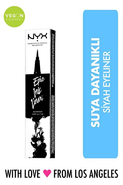 NYX Professional Makeup Siyah Eyeliner - Epic Ink Liner Black 800897085605