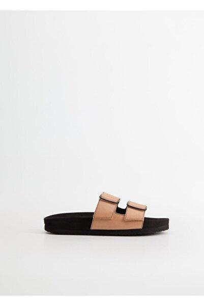 Violeta by MANGO Kadın Siyah Tokalı Bantlı Sandalet 77010058