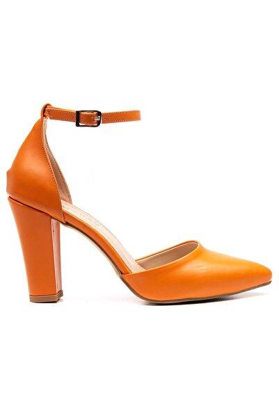 Ataköy Ayakkabı Kadın Pu Oranje Topuklu Ayakkabı
