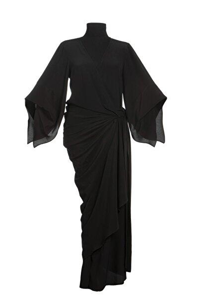 Ayşen Armağan A2 1018 Drapeli Geniş Kollu Elbise