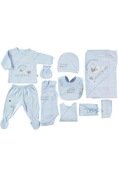 Minidamla Erkek Bebek 10 P. Hastane Çıkışı Mavi