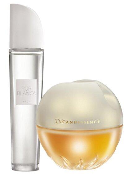 AVON Kadın  Pur Blanca Parfüm Edt 50 ml + Avon Incandessence Parfüm Edp 50 ml Parfüm Seti