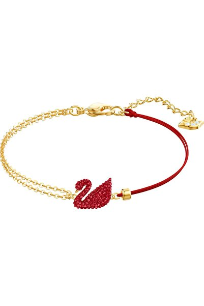 Swarovski Bileklik Iconıc Swan Bracelet Insı/cry/gos Red Sıze M 5465403