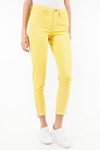Guess Kadın Sarı Pantolon W82A09W7YE3
