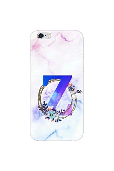 mooodcase Iphone 6 Plus / 6s Plus Renkli Mermer Desen Z Harfli Telefon Kılıfı