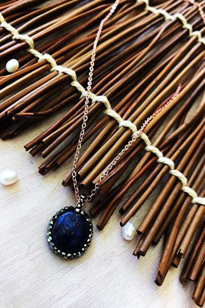 Dr. Stone Dr Stone Doğaltaş El Yapımı Altın Kaplama Afrika Koleksiyonu Kadın Lapis Lazuli Taşı Kolye Xktdr14