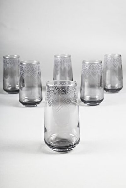 Grace Füme 6'lı Meşrubat Bardağı Seti 470 Cc