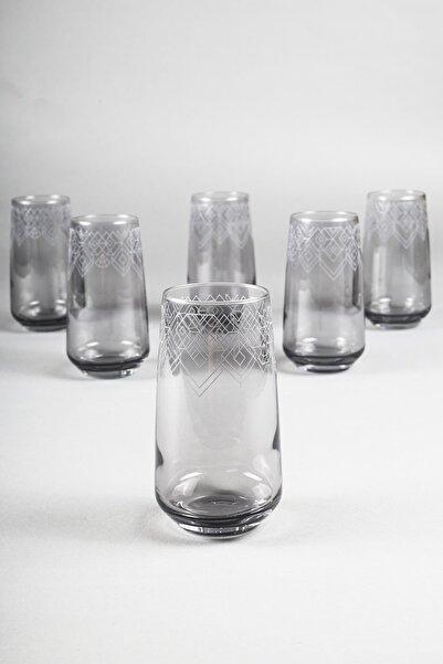 Rakle Grace Füme 6'lı Meşrubat Bardağı Seti 470 Cc