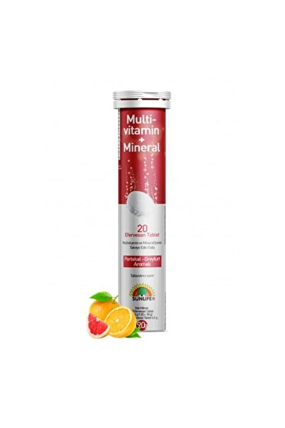 Sunlife Multivitamin + Mineral 20 Efervesan Tablet