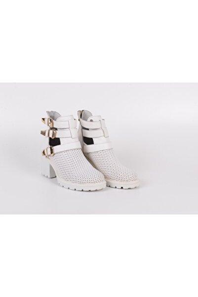 16510553 Bootie Bot Yazlık Hakiki Deri Bayan Ayakkabı