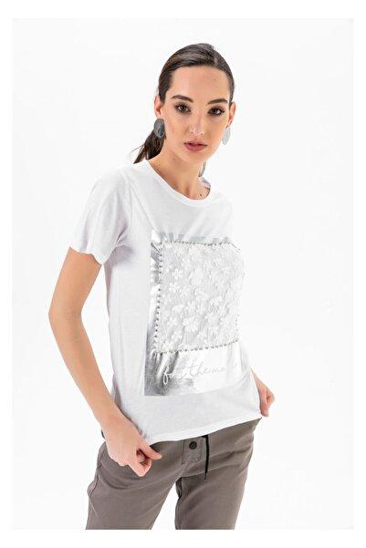 Tiffany A0252 Parlak Çiçek Baskılı T-shirt