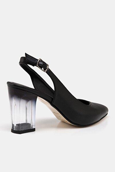 Sıyah Kadın  Klasik Topuklu Ayakkabı 01AYH172990A100
