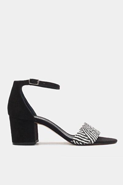 Hotiç Siyah Kadın Topuklu Sandalet