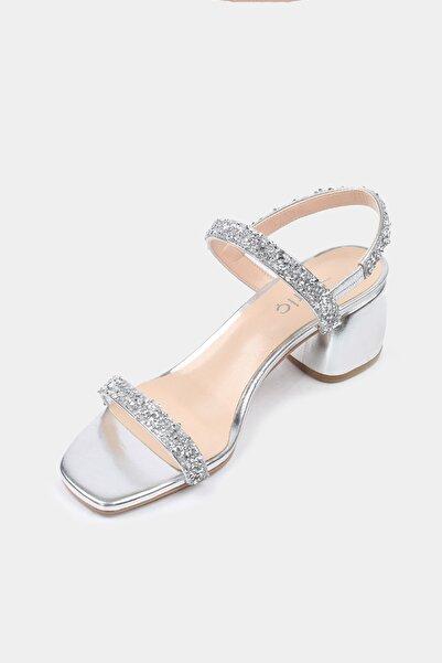 Lame Kadın Topuklu Sandalet
