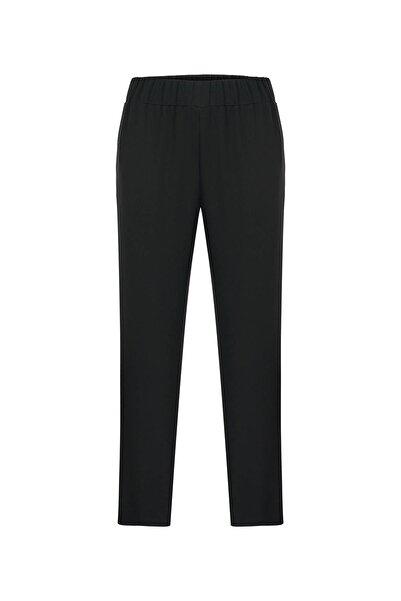 Kadın Siyah Yanı Şeritli Pantolon 20YG001112