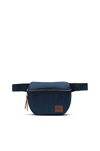 Herschel Supply Co. Fifteen Indigo Denim Crosshatch Bel Çantası