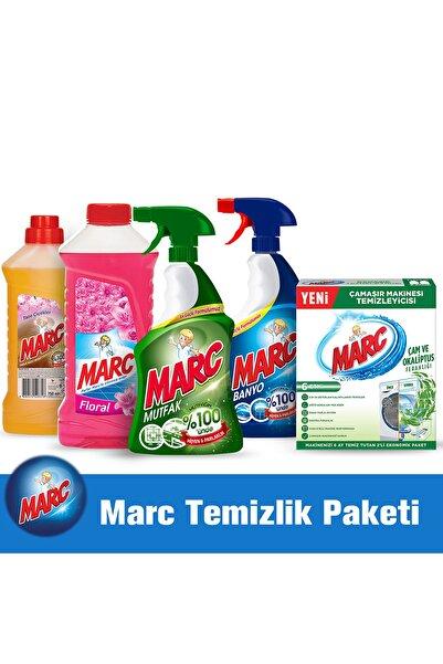 Marc Temizilik Paketi(Ahşap Ve Yüzeytemizleyici Banyo&mutfak Sprayset,çamaşır Makinesi Temizleyici)