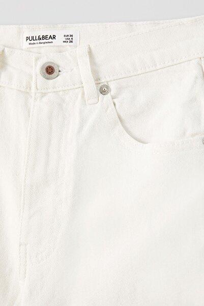Kadın Beyaz Comfort Slim Fit Mom Jean 05682305