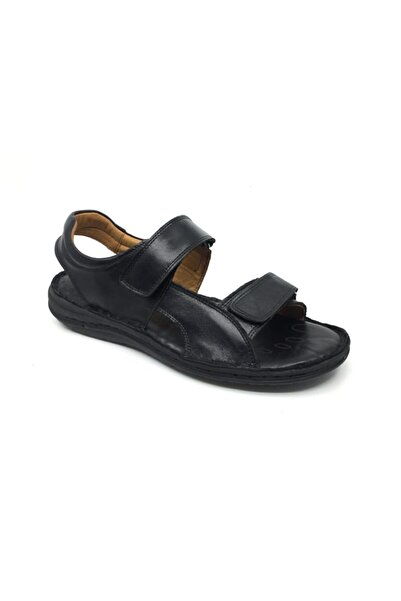 Erdem Erkek %100 Deri Ortopedik Terlik-sandalet