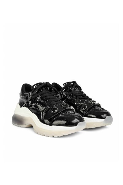 Kadın Siyah Taş Tokalı Sneaker IS1200062032001