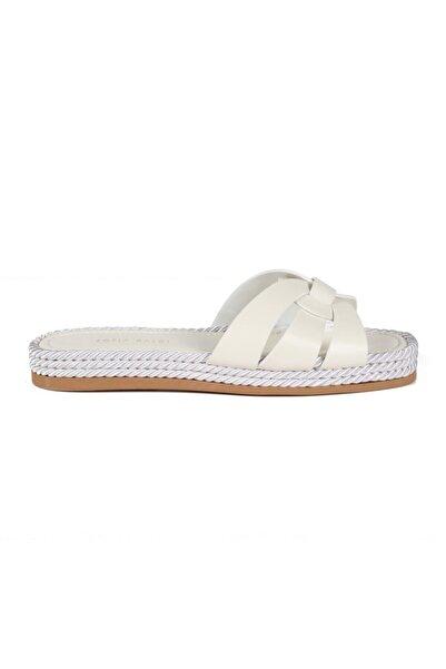 Sofia Baldi Deasha Beyaz Deri Toka Kadın Düz Sandalet