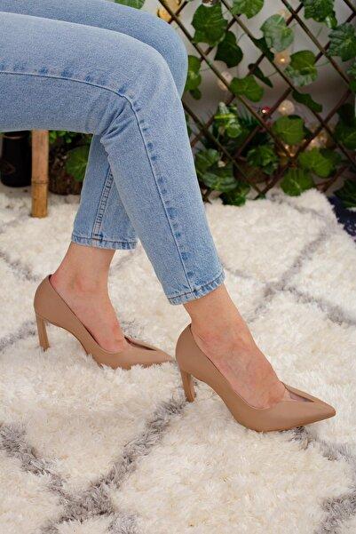 Limoya Vizon Şeffaf Burun Detaylı Ince Topuklu Stiletto