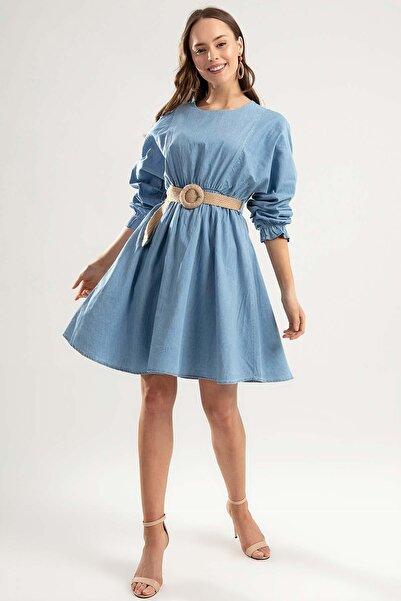 Y-London Kadın Açık Mavi Kot Elbise Y20S110-1923