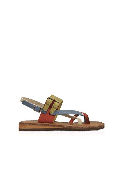 Ziya Hakiki Deri Kadın Sandalet 10183 143 Renkli