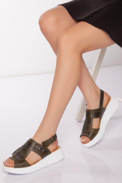 Diego Carlotti Hakiki Deri Kadın Sandalet