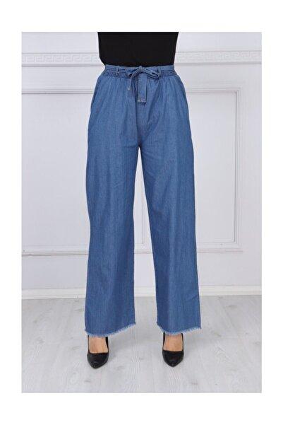 Lastikli&kuşaklı Kot Pantolon