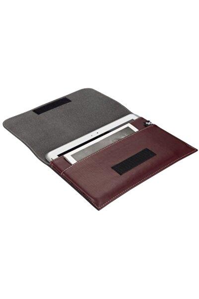 2K Suni Deri Cırt Kapaklı 2 Bölmeli Tablet Çantası 19x28 Cm