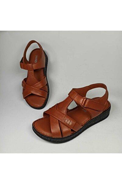 Pandora Deriland Hakiki Deri Ortopedik Kadın Sandalet
