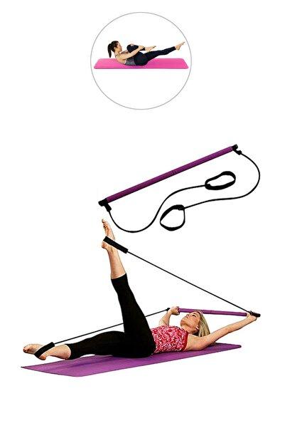 Spor Byfit Portable Studio Pilates Egzersiz Çubuğu + 16 mm Pilates Minderi - PMB