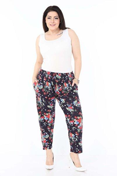 Modayız Yaprak Desenli Esnek Pantolon 18a-0985