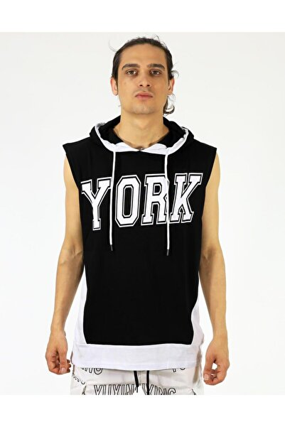 Kolsuz Kapşonlu New York Tank Tişört
